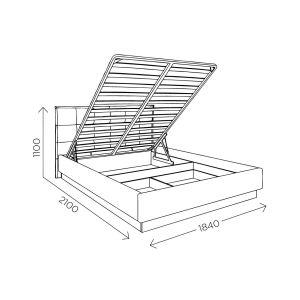 Купить Кровать Комфорт-S М1 Генриетта 160*200 с подъемным механизмом цвет дуб баррик/темпо 10