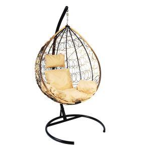 Купить Подвесное кресло ЭкоДизайн Z-03 (A) (1) цвет светло-коричневый/бежевый/черный