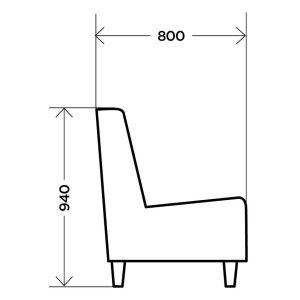 Купить Кресло Комфорт-S интерьерное Мариус цвет newtone antracite