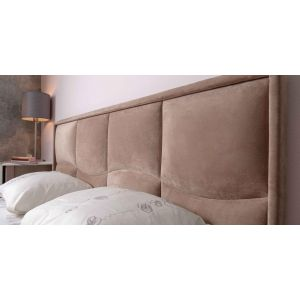 Купить Кровать ГМФ 307 Люкс 160*200 Brownie цвет мокко/furor brown grey