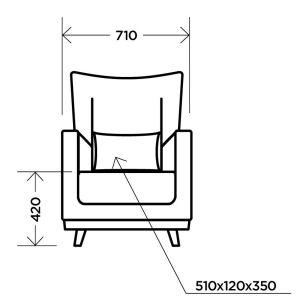 Купить Кресло Комфорт-S Интерьерное new цвет newtone antracite