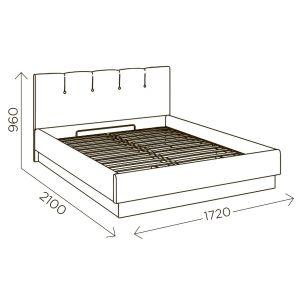 Купить Кровать Комфорт-S М9 Илия 1600*2000 с подъемным механизмом цвет туя светлая/ зодиак 07