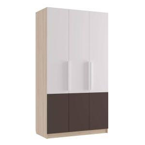 Купить Шкаф Комфорт-S М8 Илия цвет туя светлая/ шоколад / белый