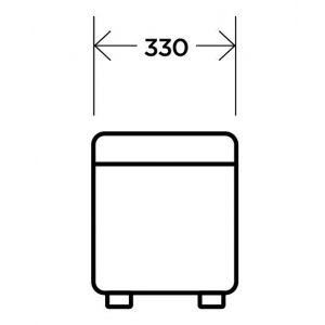 Купить Банкетка Комфорт-S БД двухместная цвет теос милк