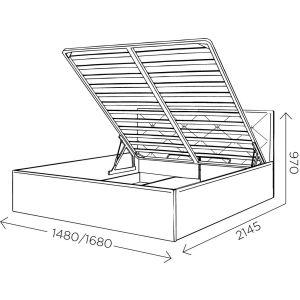 Купить Кровать Комфорт-S Габриэль 160*200 с подъемным механизмом цвет манго 009/ромбы
