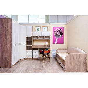 Купить Стол письменный Комфорт-S М6 Богуслава цвет дуб баррик светлый/крем брюле