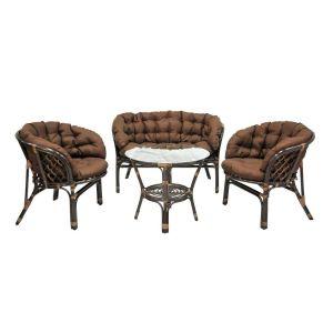 Комплект мебели из натурального ротанга ЭкоДизайн Багама 03/10 Б