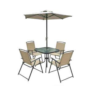 Комплект мебели ЭкоДизайн Vine (стол + 4 кресла + зонт)