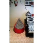 Купить Пуф Комфорт-S Груша-3 мини цвет красный/серый