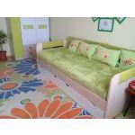 Кровать Аквилон 900.4new Стиль цвет туя светлая/лайм