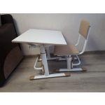 Комплект детской мебели ВПК растущие парта + стул цвет белый/макиато