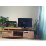Купить Тумба под телевизор ГМФ ТТВ3 Nature цвет дуб табачный craft/черный
