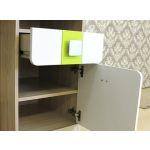 Стол письменный Аквилон СП17 Стиль цвет туя светлая/белый глянец/лайм