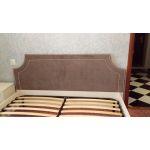 Кровать ГМФ К306 люкс+10.1 Карина 180*200 с основанием цвет бодега светлый