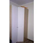 Шкаф угловой Комфорт-S М3 Богуслава правый цвет дуб баррик светлый/крем брюле