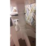 Стол Экомебель Фаворит де Люкс 900*900(1270) раздвижной цвет белая эмаль