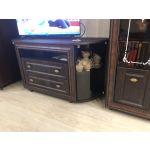 Тумба под телевизор Аквилон ТТВ стекло бронза Калипсо цвет венге