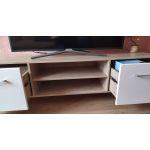 Купить Тумба под телевизор Комфорт-S М11 Войтек цвет дуб баррик/белый матовый