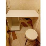 Стол письменный Компасс АС-241К+АС-241 Ассоль цвет белое дерево