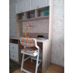 Стол письменный Комфорт-S М6 Богуслава цвет дуб баррик светлый/крем брюле