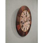 Часы Арти М 799-171 World Map 34*34*4,5 см цвет коричневый