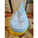 Пуф Комфорт-S Груша-3 мини цвет желтый/серый