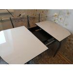 Стол Кубика Портофино-1 EVO цвет венге/песочный рис.0/хром-лак
