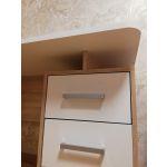 Купить Стол компьютерный Мебельсон 1200 Лайт-2 цвет дуб сонома/белый