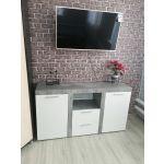 Комод Сакура К9 Best цвет бетон/белый глянец