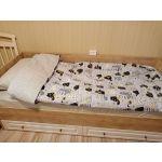 Кровать Комфорт-S М1 Богуслава цвет дуб баррик светлый/крем брюле