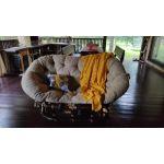 Кресло ЭкоДизайн Мamasan 23/02 с подушкой цвет браун