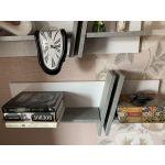 Полка навесная Сакура ПУ5.3 Best цвет бетон/белый глянец