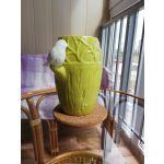 Ваза Арти М 101-1039 Соловьи 20*15*24 см цвет зелёный