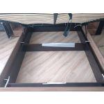 Кровать ГМФ К307 Люкс 160*200 с подъемным механизмом Nature цвет дуб табачный craft/черный